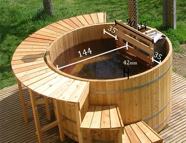 Afmetingen houten hottub