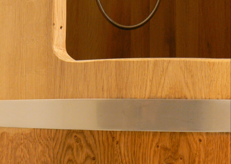 houten douchecabine van eiken