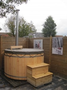Hottub houten bad